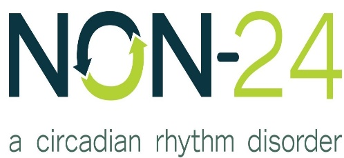 image of text that says non-24, a circadian rhythm disorder